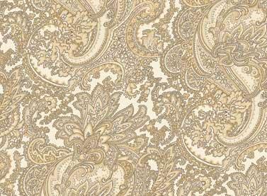 Cottage Whites - Cream Paisley