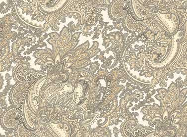 Cottage Whites - Gray Paisley