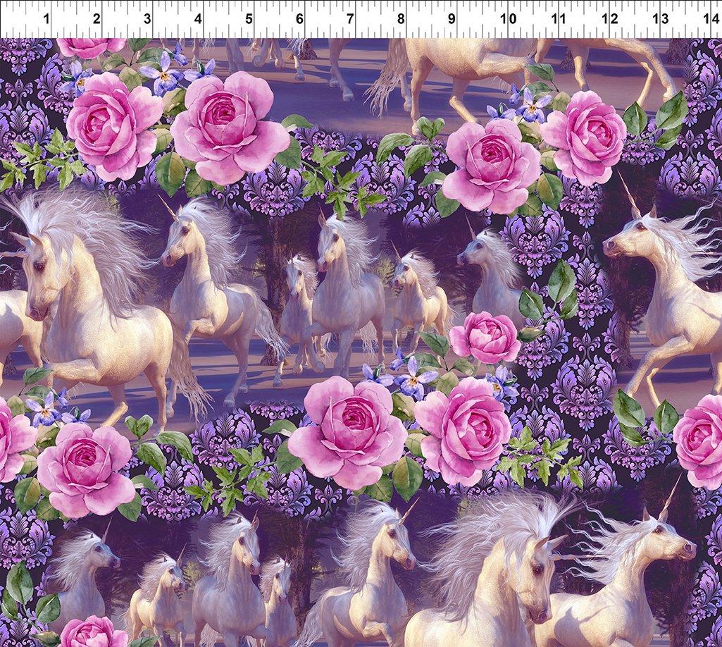 Unicorns - Large Floral Running Unicorns