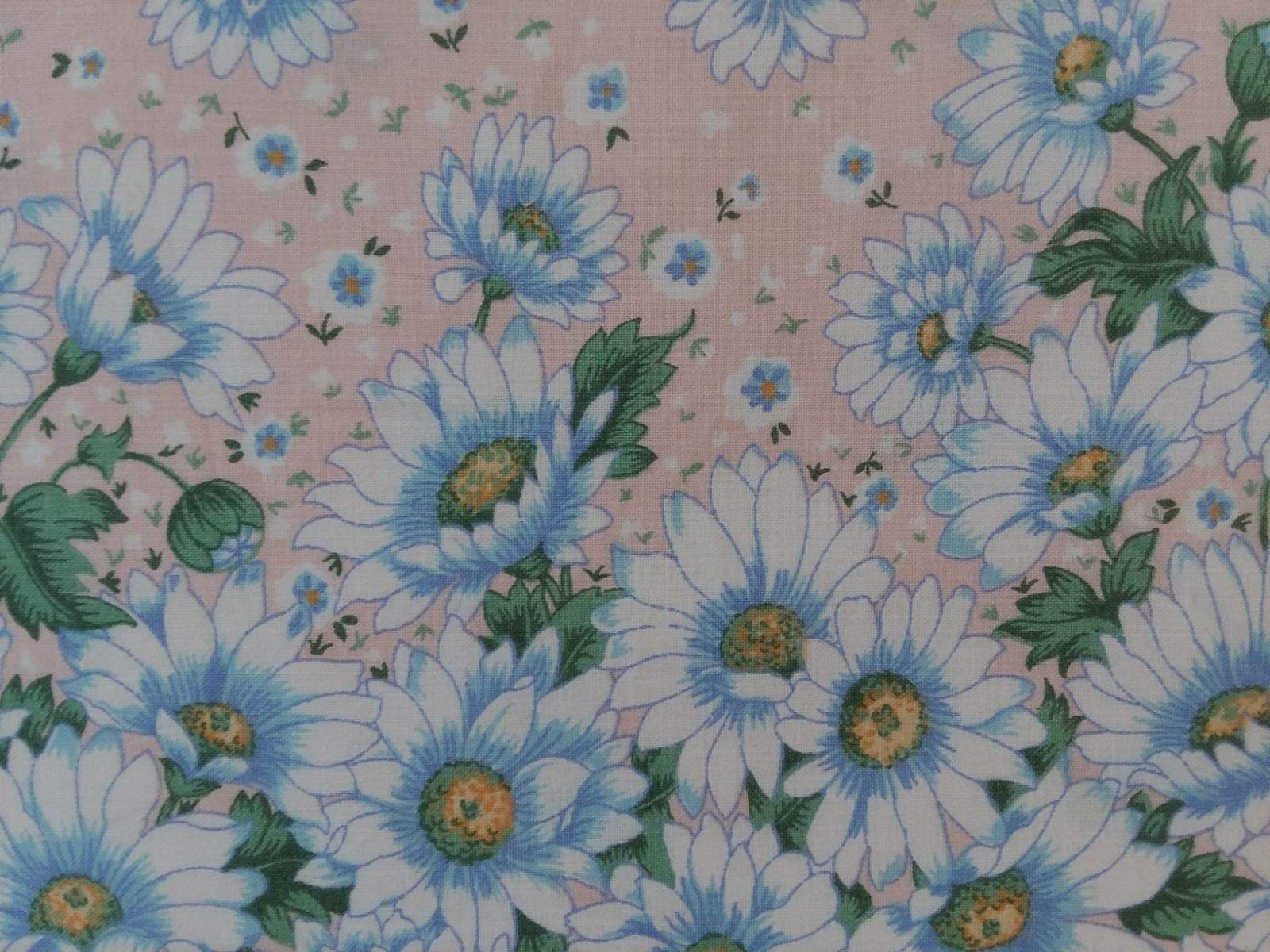 Don't Eat the Daisies - Peach Border Print