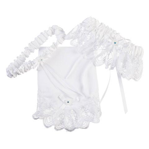 3-in-1 Garter Set - White
