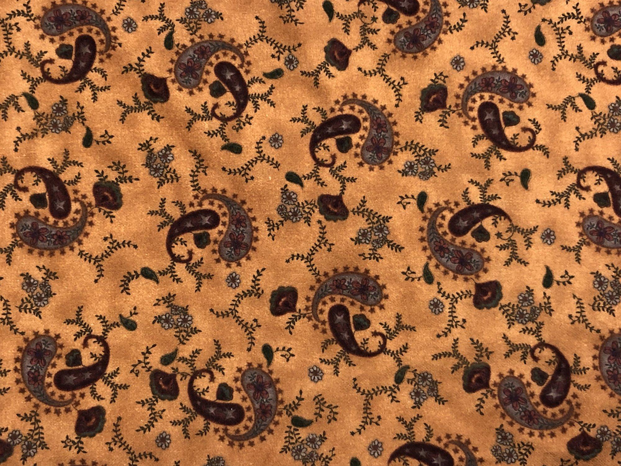 Flannel Favorites - Burnt Orange Paisley FLANNEL