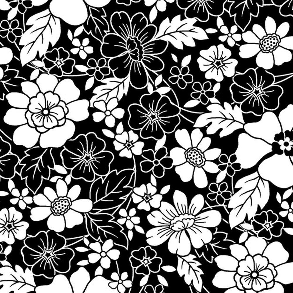 Aubrey - Flowers: Black and White