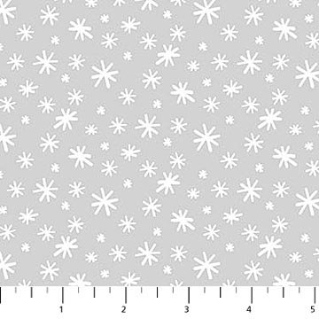 Yeti for Winter - Gray Snowflakes FLANNEL
