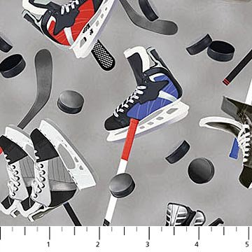 All Star Hockey - Gear on Gray Background