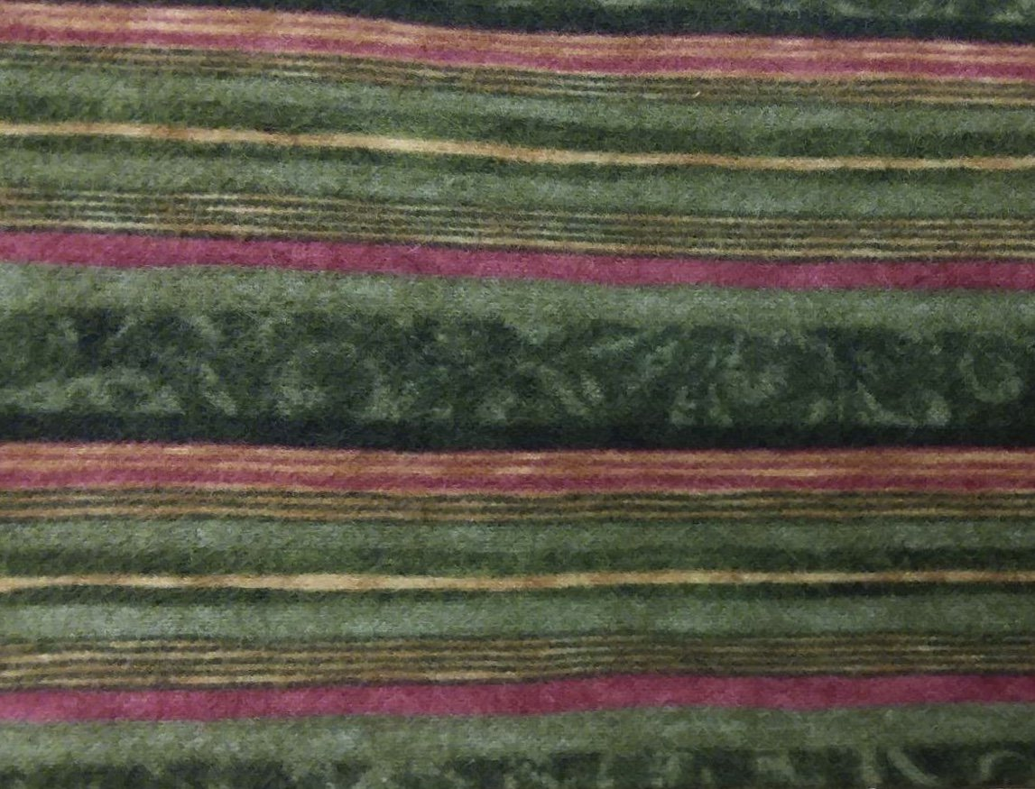 Green Striped FLANNEL