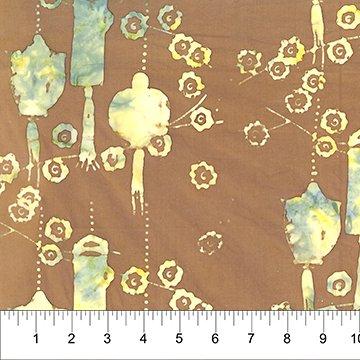 Patio Stone Brown Cotton Batik