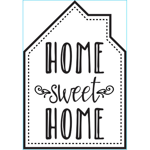 Home Sweet Home, Black, 6.75 x 9.75 Iron On Transfer