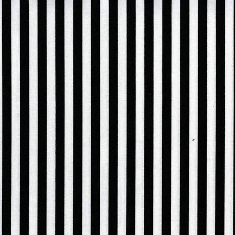 Clown Stripe - 1/4 Black & White Stripes