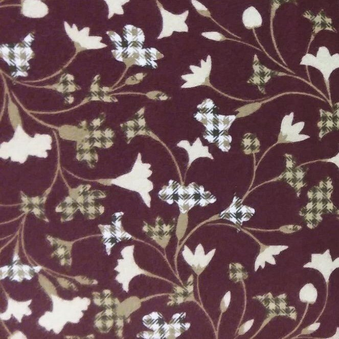 Tailor - Burgundy Floral Plaid FLANNEL