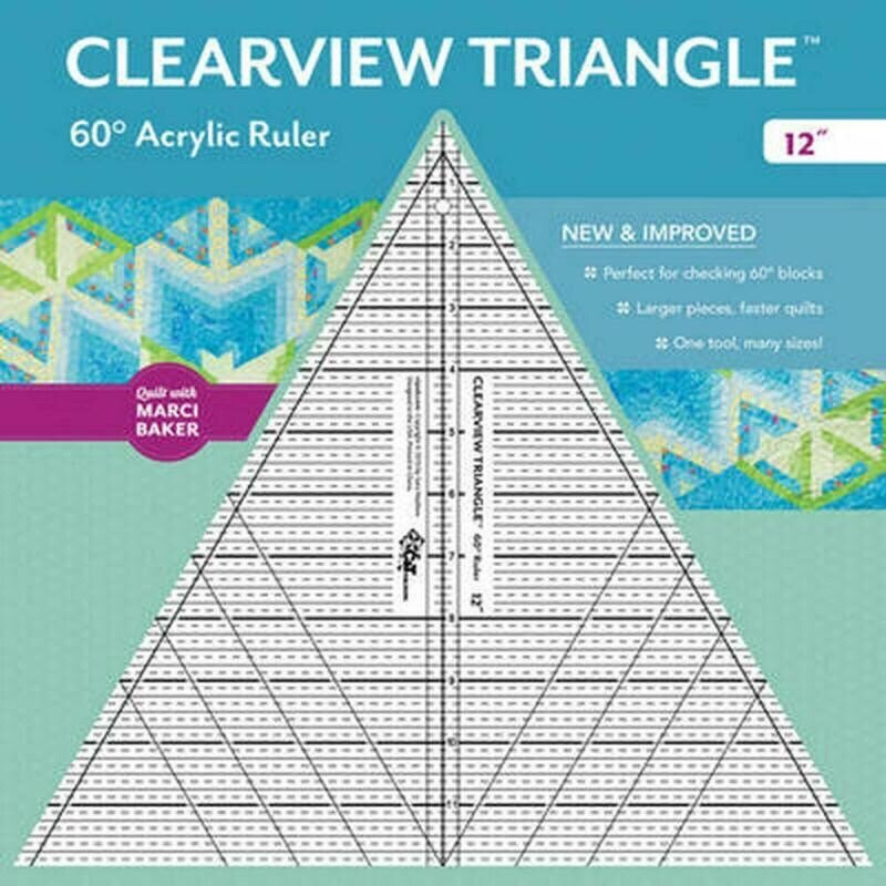 Clearview Triangle 60 Degree Acrylic Ruler - 12