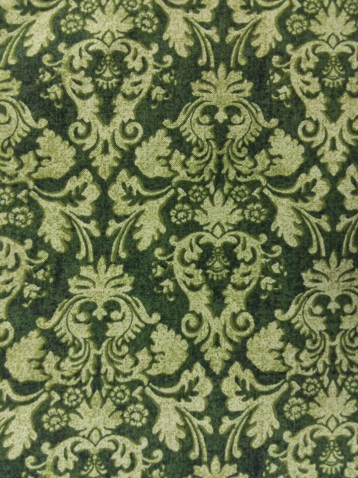 Hearth and Home - Green Damask