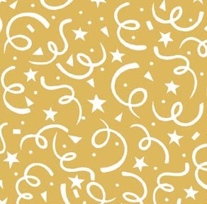 Holiday Basics - Confetti Swirl: Metallic Gold
