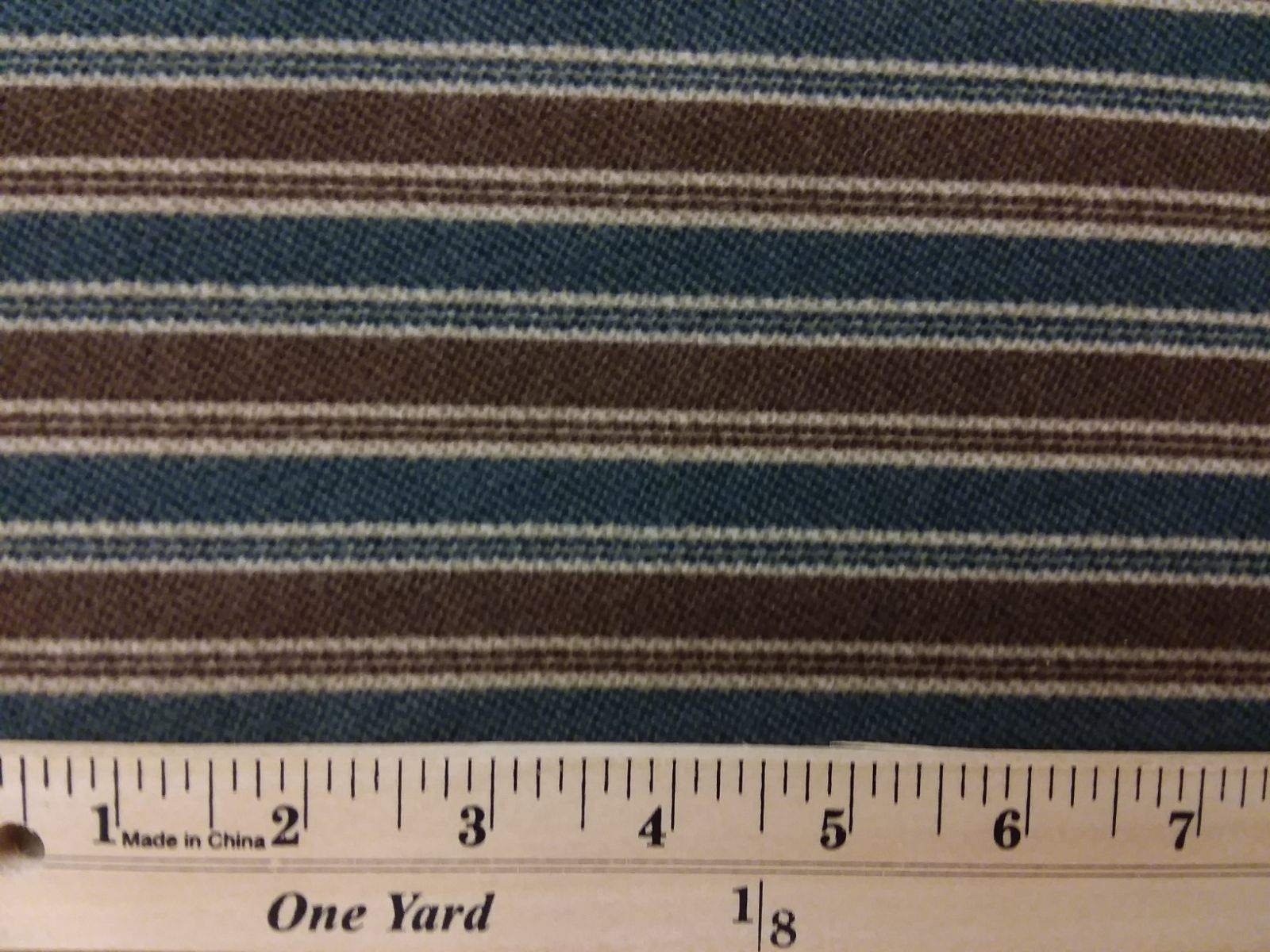 Flannel Elements - Brown/Blue Stripes FLANNEL