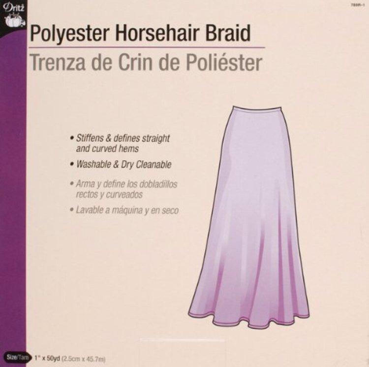 Horsehair Braid - 1 x 2 yds