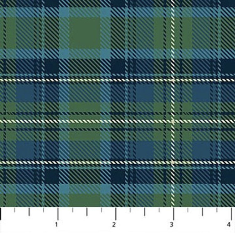 Savile Row - Green and Blue Plaid FLANNEL