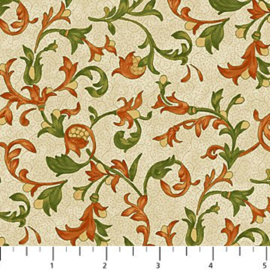 Euphoria - Beige Floral Scroll