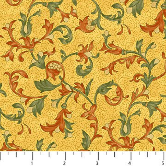 Euphoria - Yellow Floral Scroll