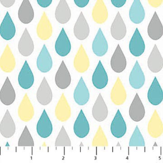 Once Upon A Cloud - Rain Drops FLANNEL