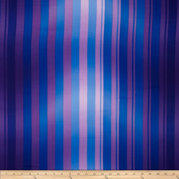 Flower Show II - Purple/Blue Stripes