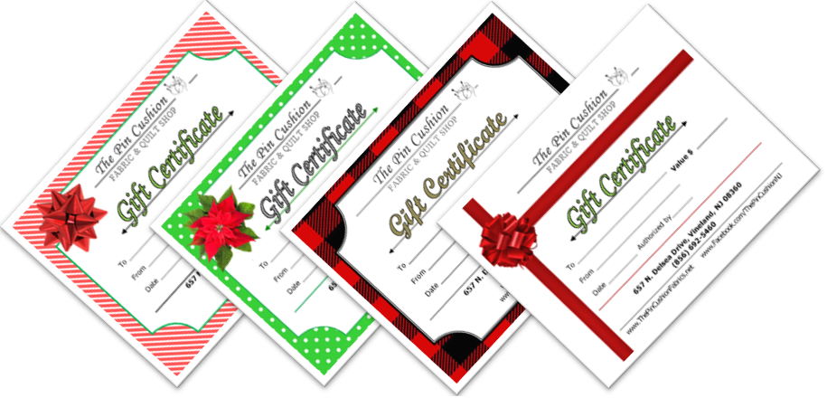 Gift Certificates - Christmas Styles