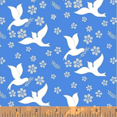 Inspirations - Doves w/ Blue <br> Background