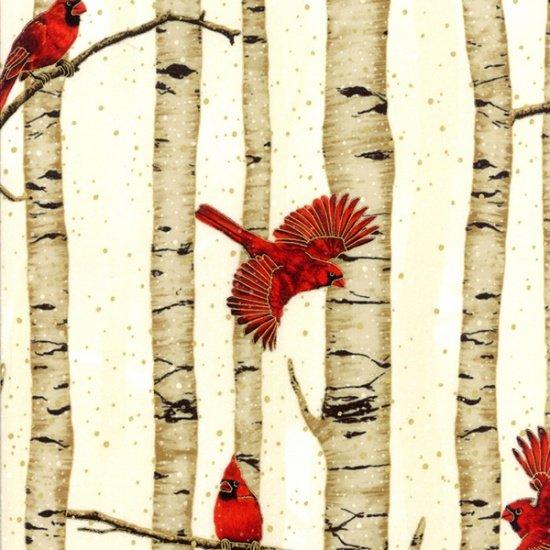Christmas Classics - Cardinals & Birch Trees