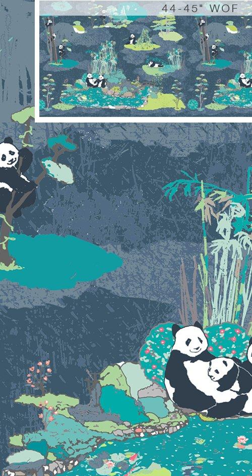 Pandalicious - Naptime Blue Bkgd