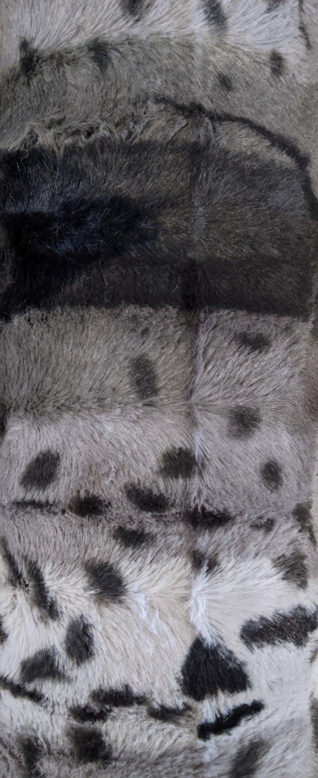Gray Animal Print Stripe Softee