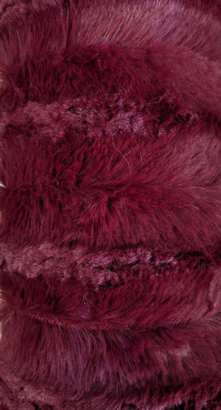 Burgundy Softee Stripe Mink