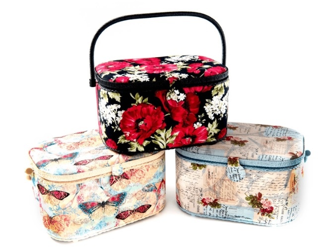 Sewing Basket Large Oval Assorted Styles