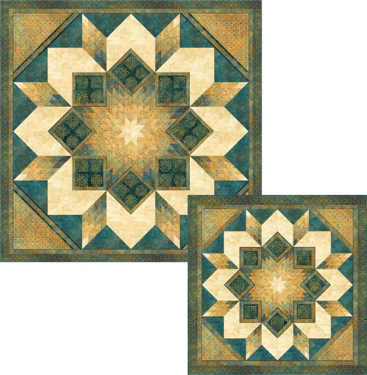 Solstice Star Quilt Kit - throw size 69 x 69