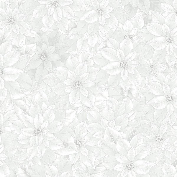 Joyful Traditions Poinsettia White/Silver