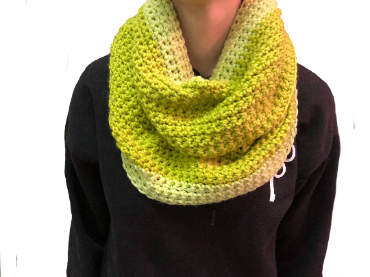 Lime Green and Yellow Infinity Scarf