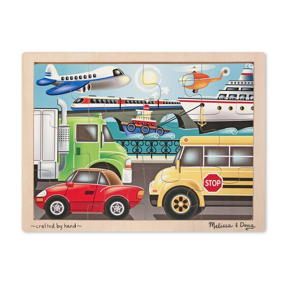 On The Go 12 pc Wooden Jigsaw Puzzle