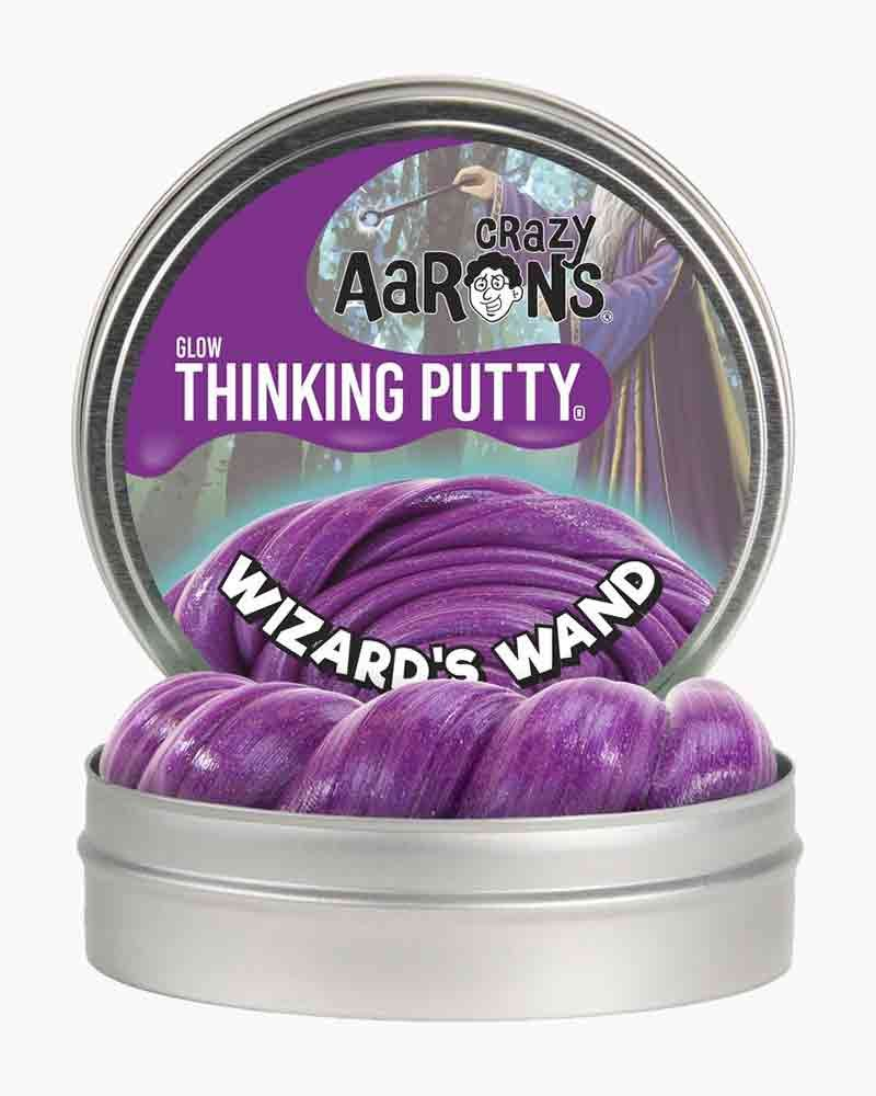 Wizard's Wand Crazy Aaron's Putty Purple Glow in the Dark Putty