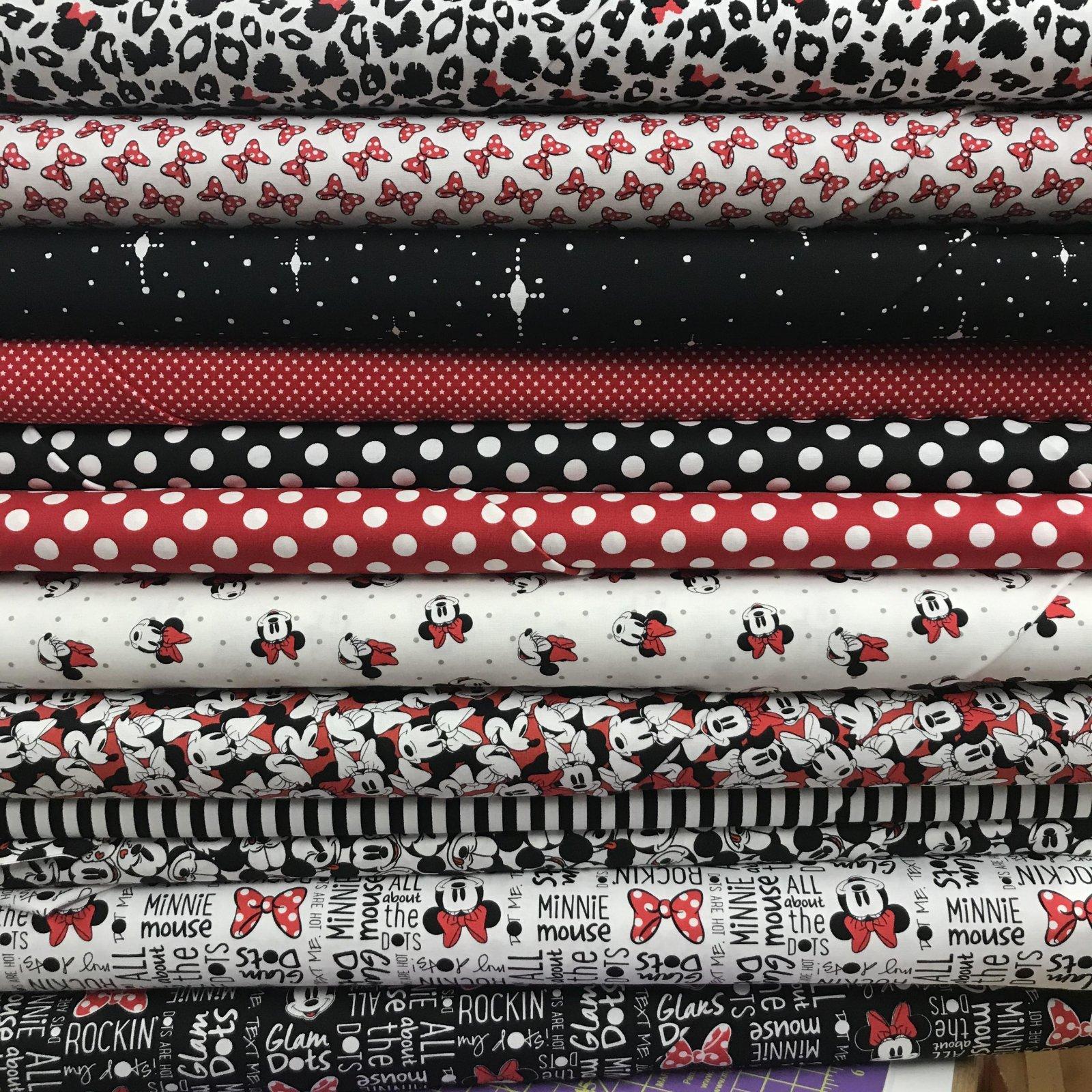 Disney Minnie Mouse Custom Fat Quarter Bundle of 12 fabrics