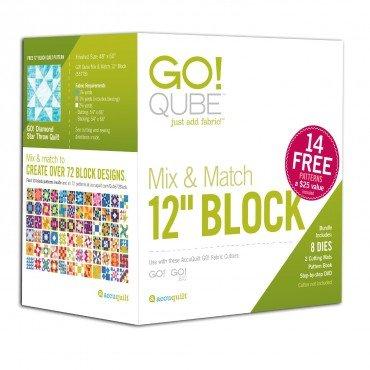 Go! 12 Qube Mix & Match 12 Block Accuquilt Cube