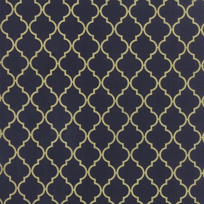 Chandelier Quattro Navy Metallic Gold Elegant
