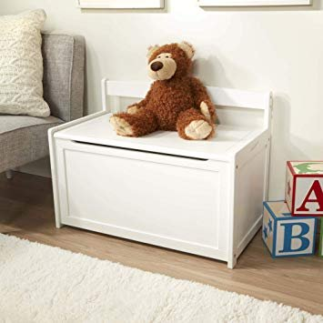 White Wooden Toy Chest by Melissa & Doug