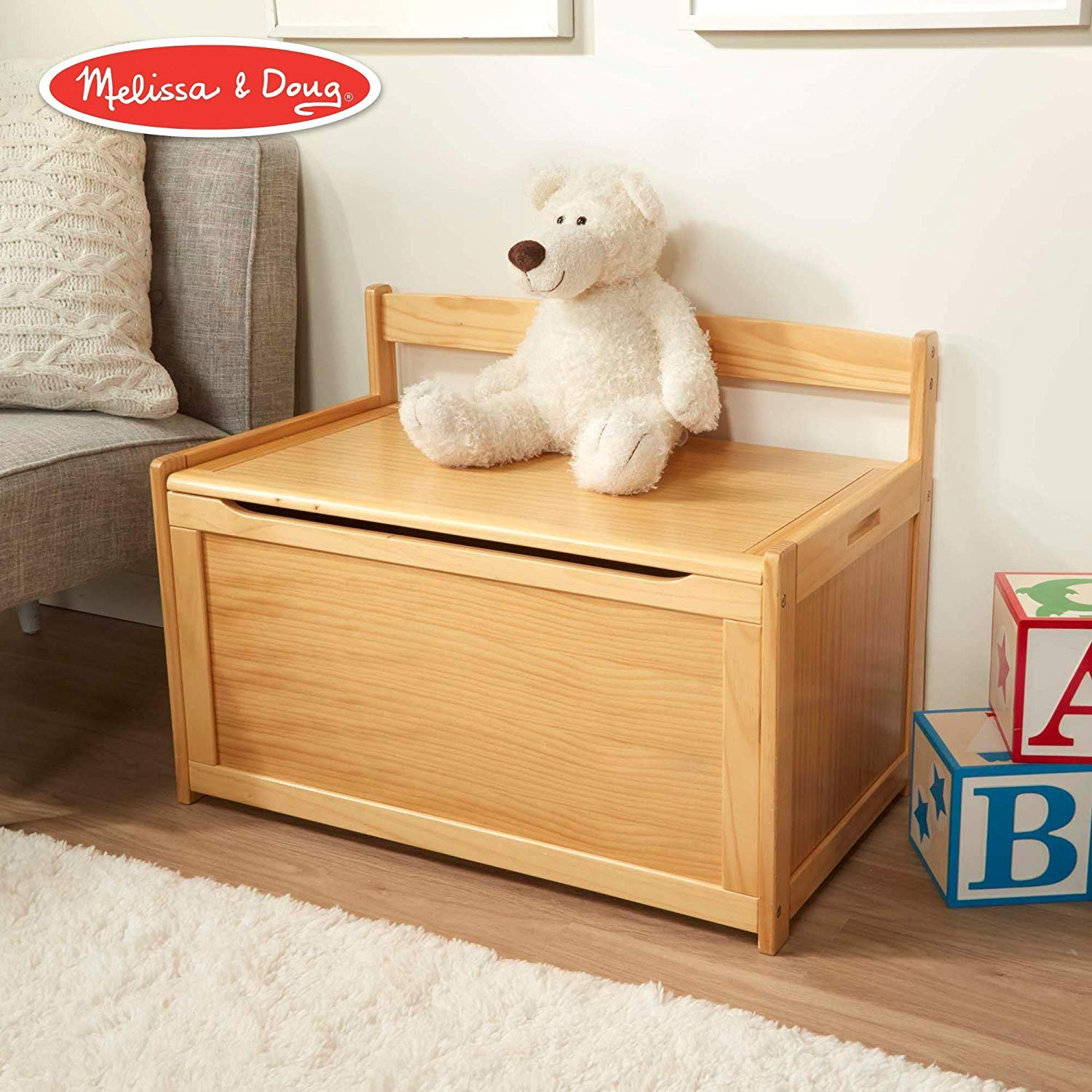 Wooden Toy Chest - Honey by Melissa & Doug