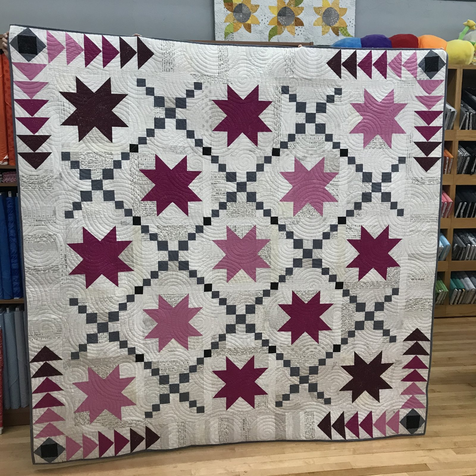 2020 Border Run Quilt Kit & Pattern for Beehive Quilt Shop