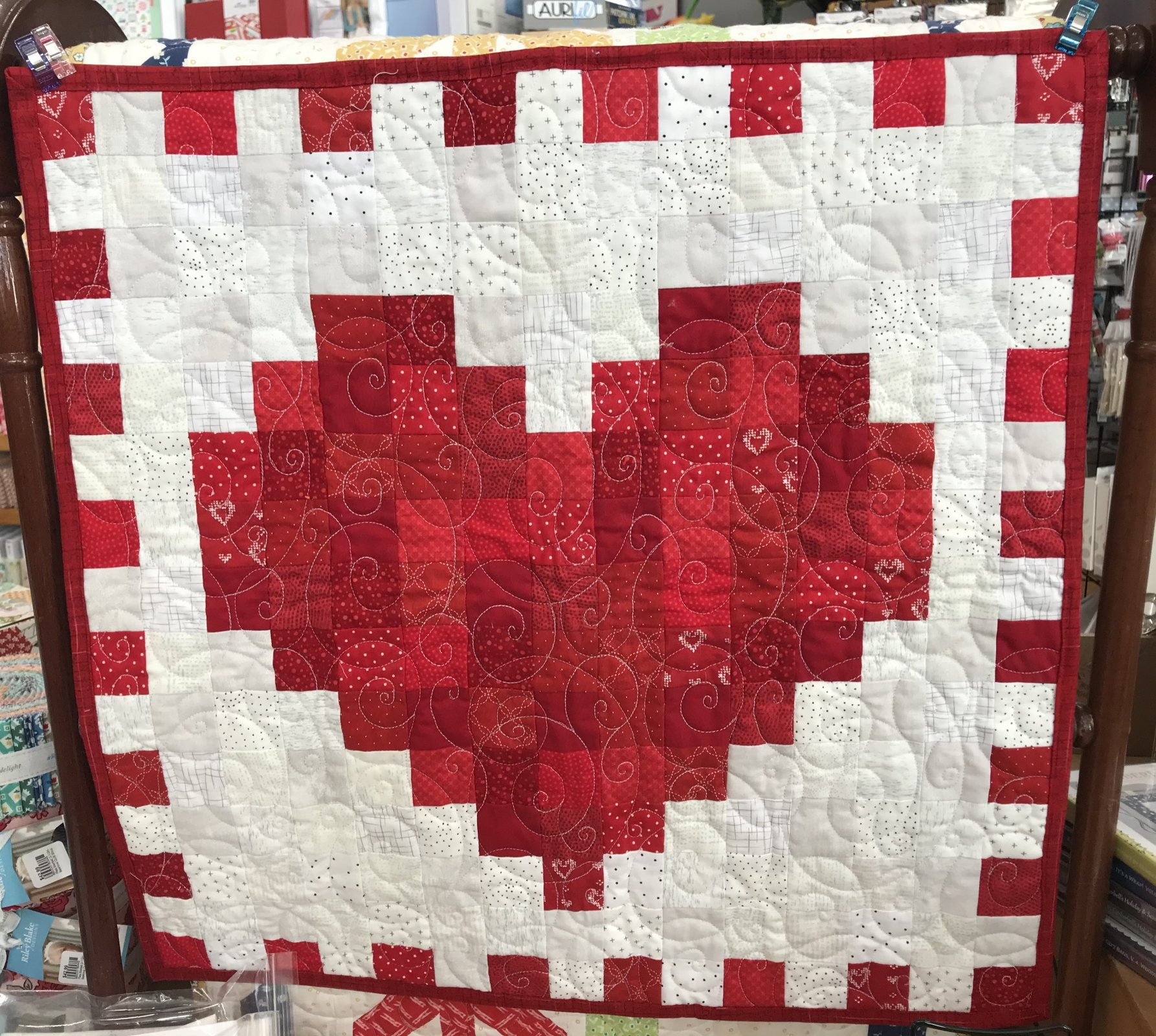 Heart Easy Piecing Wall Hanging Fabric Kit & pattern