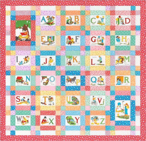 My ABC Book Quilt Kit 30s Fabric Panel Quilt