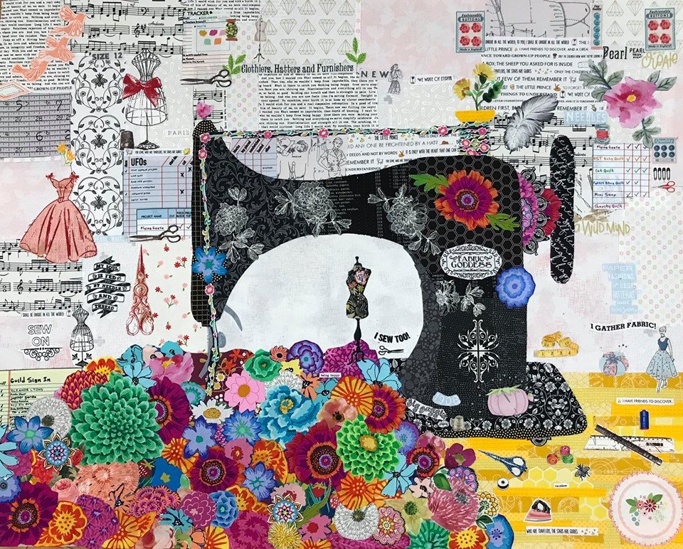 Featherweight Collage 26 x 32 Full Kit, Pattern, Fabric kit, Pattern Ease & Steam A Seam 2 - For Stashify