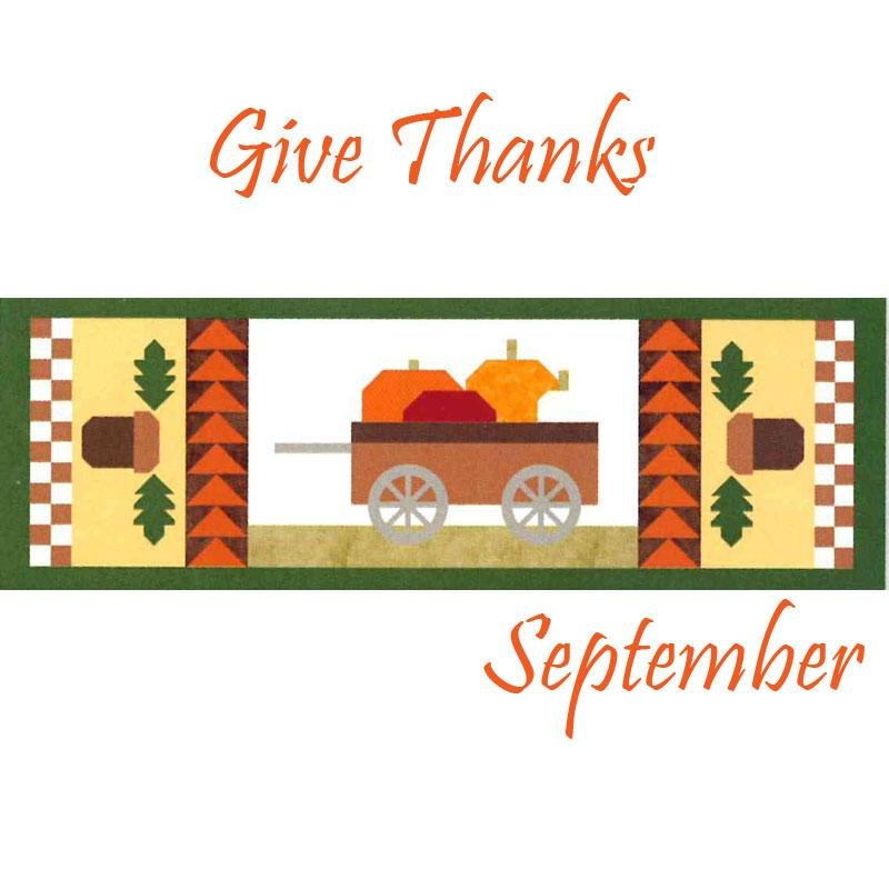 Give Thanks! Table Runner of the Month - Riley Blake 15 x 42