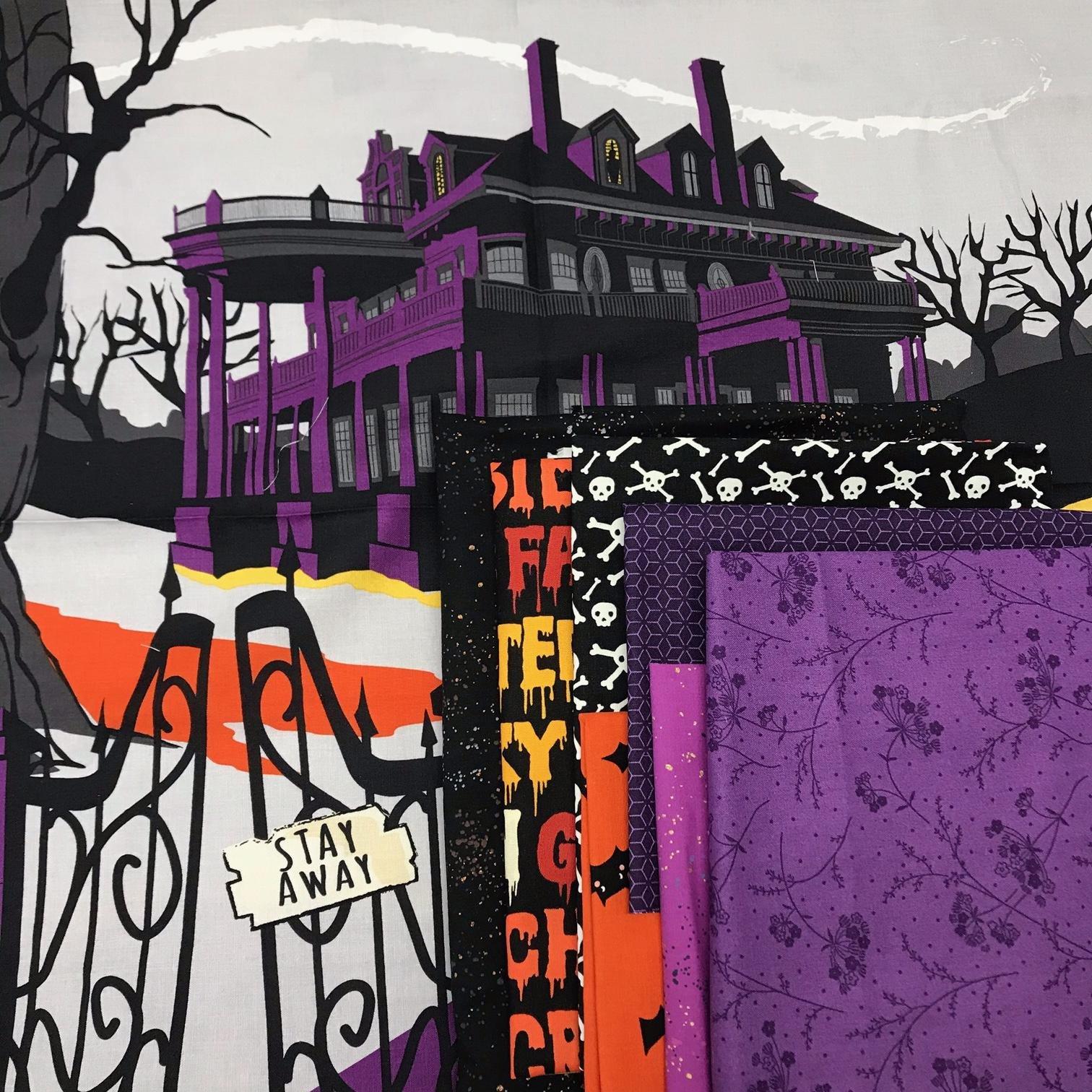 Halloween Panel Quilt Haunted House
