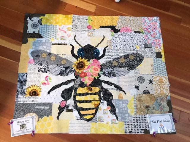 Honey Bee Collage Fabric Kit Laura Heine