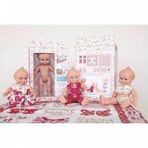 Kewpie - Sew Cute Doll & Fabric Set
