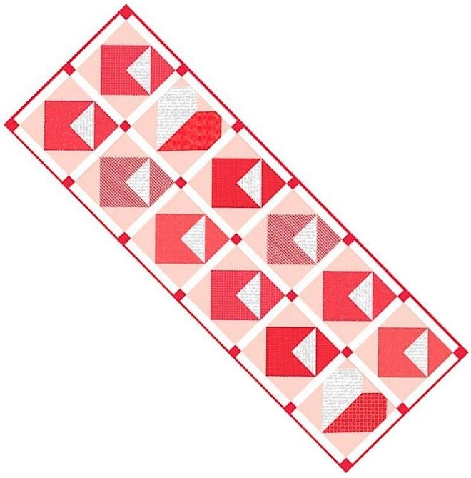 Love Notes - Table Runner of the Month Riley Blake Designs 18 x 52